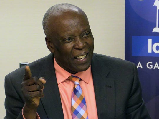 Spring Valley Mayor Demeza Delhomme speaks during a