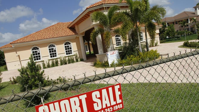 A home in foreclosure.
