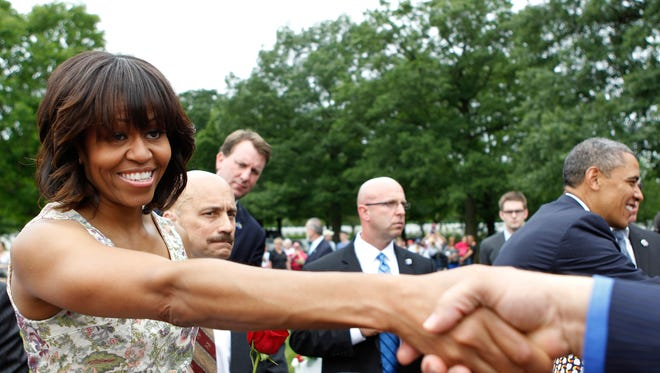 First lady Michelle Obama has been active in supporting military spouses and families.