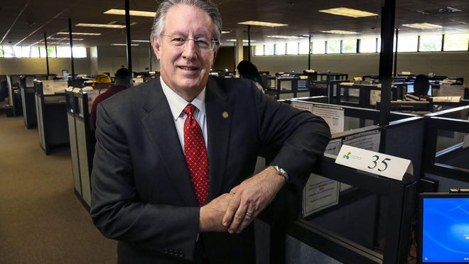 """Ken Kirby, shown here in 2014, resigned Tuesday from the board of CareerSource after expressing anger over increased scrutiny by offering a """"Seig Heil"""" Nazi salute."""