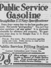 When the Public Service Filling Station stood on this