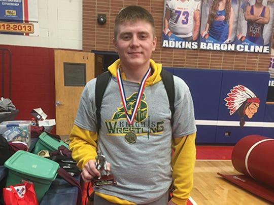 Northeastern wrestler Zach Haager