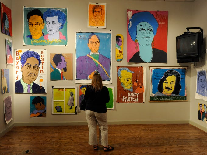Artist Tim Kerr's exhibit opens at the Rosa Parks Museum