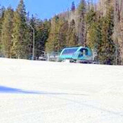 Ski Apache opened Friday with some help from snow-making crews