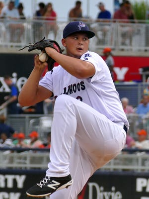 The Blue Wahoos' Sal Romano produced his season-best performance Tuesday night, going eight innings with no runs allowed and giving up just two hits to win his fifth game since July 12.