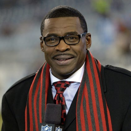 Nov 14, 2013; Nashville, TN, USA; Michael Irvin on the NFL Network set before the game between the Indianapolis Colts and the Tennessee Titans at LP Field. Mandatory Credit: Kirby Lee-USA TODAY Sports