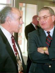 Tony DeMacio, left, the former Riverheads football