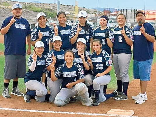 Courtesy Photo   The Senior Girls of the Silver All-Stars include Kim Renteria, Briana Garcia, Danni Misquez, Alicia Trujillo, Marisa Trujillo, Jacqueline Gonzales, Analissa Quinteros, Kiana Mendoza, Christa Sifuentes, and Angelica Rodriguez. The manager is Larry Trujillo, while the coaches are Brandon Mendoza and Eddie Lucero.