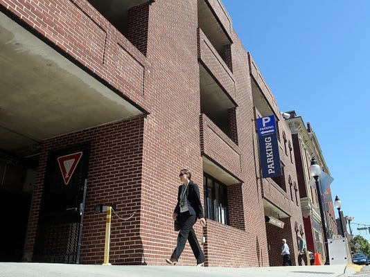 Thursday, Sept. 17, 2015--York City has solicited requests to advertise on the Philadelphia St. Parking Garage and others in the city. Bill Kalina - bkalina@yorkdispatch.com