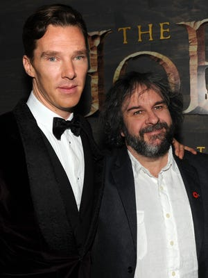"Benedict Cumberbatch and director Peter Jackson collaborated to bring Smaug the dragon to life in ""The Hobbit: The Desolation of Smaug."""