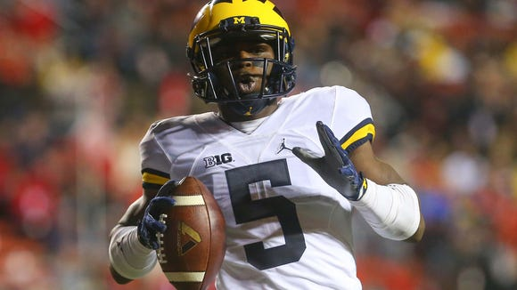 Michigan Wolverines running back Jabrill Peppers (5)