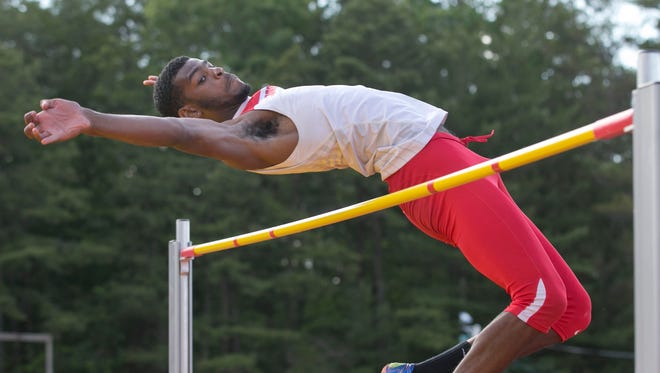 Plainfield's Jaleel Simmons wins the high jump at the NJSIAA Meet of Champions on Wednesday.