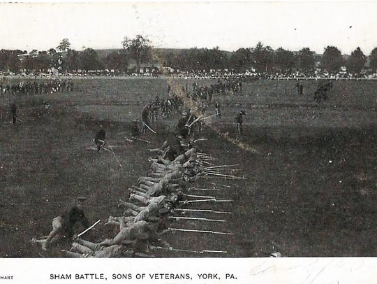 A 1906 Civil War reenactment in York.