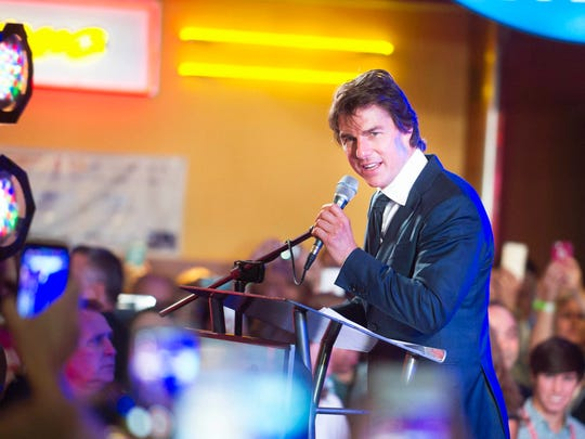 """Tom Cruise welcomes fans to a special premiere of his film """"Jack Reacher: Never Go Back"""" on Monday, Oct. 17, 2016, at the Regal Pinnacle 18 in Turkey Creek. The premiere is a Regal Entertainment Group fundraiser to benefit Variety - the Children's Charity of Eastern Tennessee."""