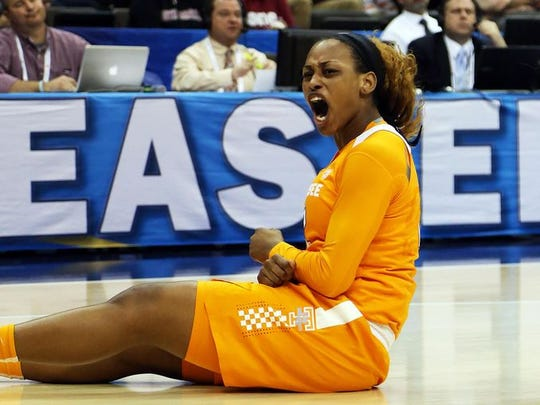 Forward Bashaara Graves (12) hopes to help  Tennessee finish strong in the NCAA Tournament after struggling through much of the regular season.