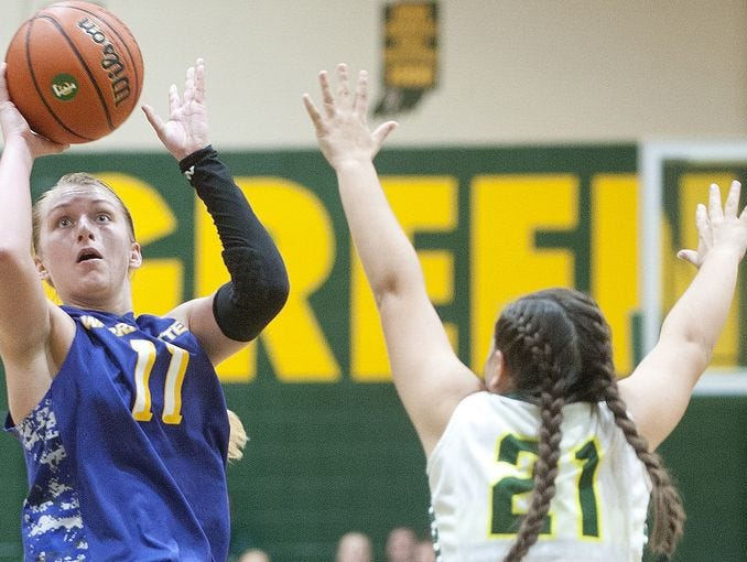 Paige Barrett, left, was voted The Southern Indiana Athlete of the Week.