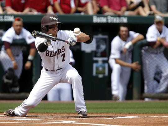 Missouri State shortstop Joey Hawkins set an MVC record