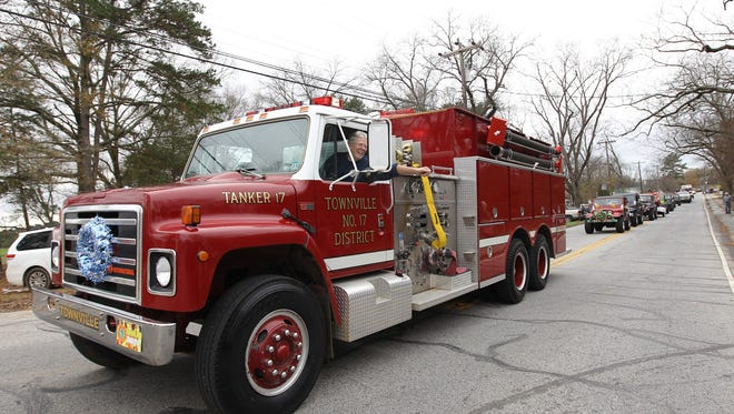 Townville's annual Christmas parade in 2013.
