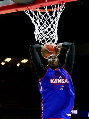 Kansas Jayhawks forward Cheick Diallo (13) helped his draft stock at the NBA combine.