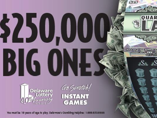 Delaware lottery Quarter Million Large