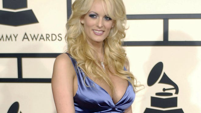 Adult film star Stormy Daniels at the 50th Annual Grammy Awards in Los Angeles in 2008.