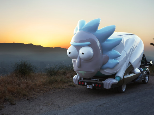 """The Rickmobile mobile store promotes Adult Swim's animated TV show """"Rick and Morty."""""""