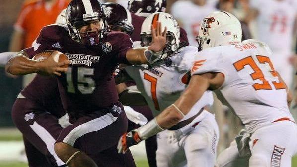 Mississippi State quarterback Dak Prescott finished eighth in the Heisman Trophy voting.