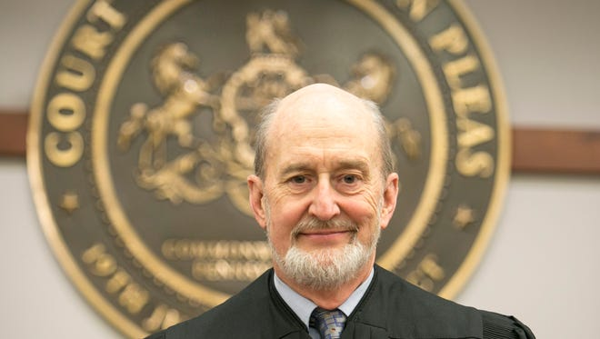 Judge Christopher Menges, who was elected in November could potentially serve his full term if primary voters, vote to extend the retirement age in the upcoming election. Menges who is 64, under the current law would only be able to serve until he turns 70 in 2021. Amanda J. Cain photo