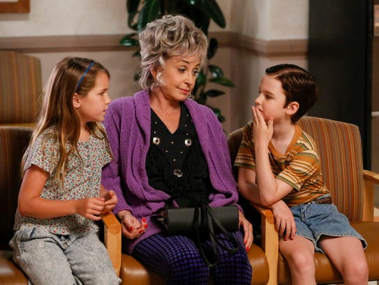 Meemaw (Annie Potts), center, sits with grandchildren