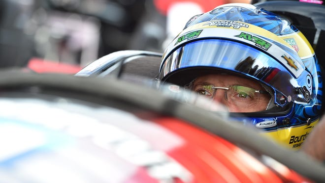 Verizon IndyCar Series driver Sebastien Bourdais (11) sits in his car during practice for the Grand Prix of St. Petersburg at streets of St. Petersburg on March 11, 2016.