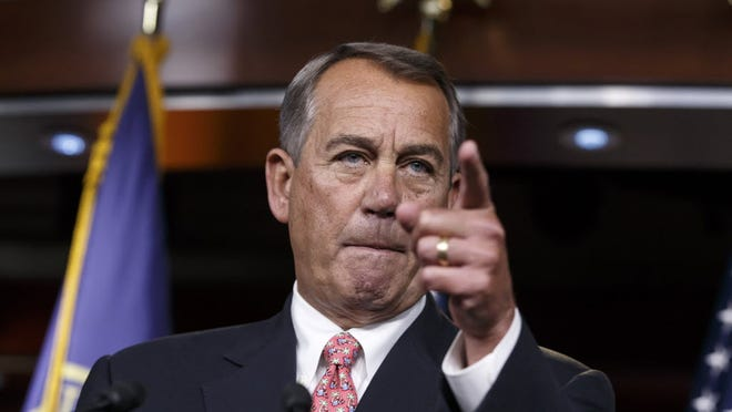 Speaker John Boehner of Ohio leads a news conference. It's clear Republicans didn't have an endgame over the Department of Homeland Security, and that blame falls on the speaker's shoulders.