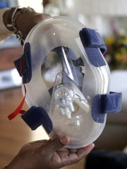 A Mask helped Yancey breathe.