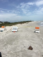 Portions of the Beach Temporarily Closed between Blind