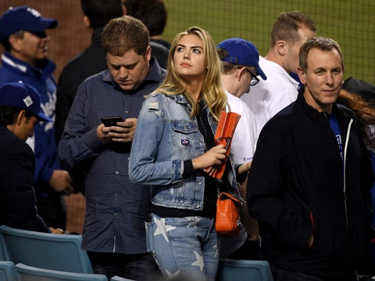 Model and actress Kate Upton attends Game 7 of the