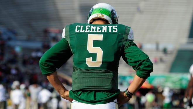 UAB quarterback Cody Clements (5) reacts during the second half of the Blazers' loss to Marshall on Nov. 22.