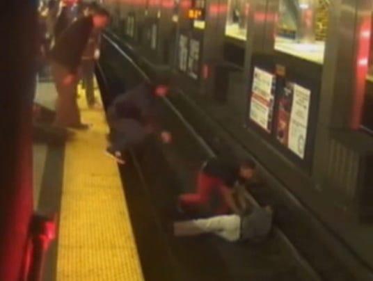 boston subway rescue