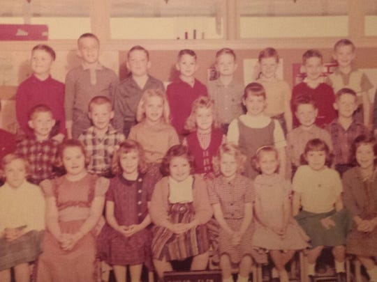 Lillian Carter's second-grade class in 1960 included Stan Lambert, second from left on the top row. The teacher pictured was a substitute.