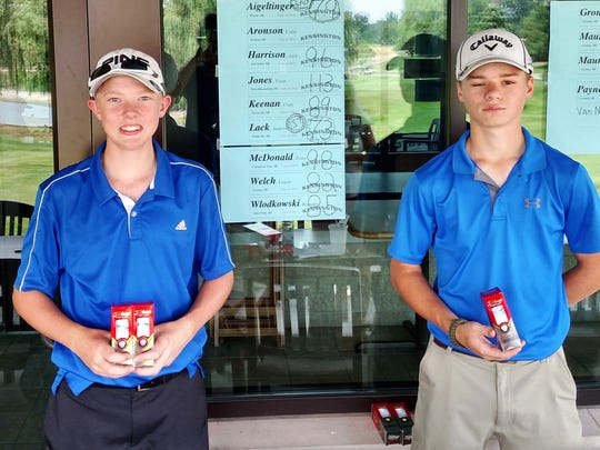 The Taylor Meadows Junior Open Boys 15-18 champs included