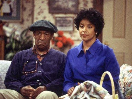 Bill Cosby and Phylicia Rashad in an episode of the