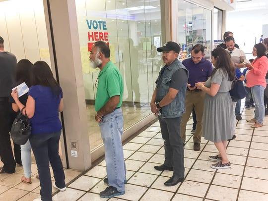 El Pasoans lined up Saturday to cast their ballots