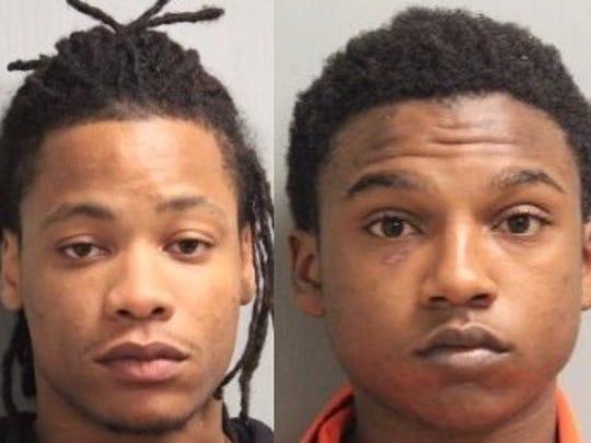Rashad O'Neal Jenkins (left) and Anthony Demetrius Bobb Jr.