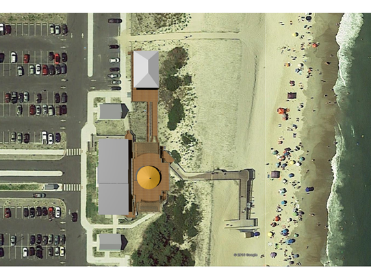 An artist's rendering of the Big Chill Beach Club that