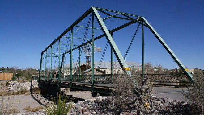 The Historic Green Bridge at the New Mexico Farm & Ranch Heritage Museum.