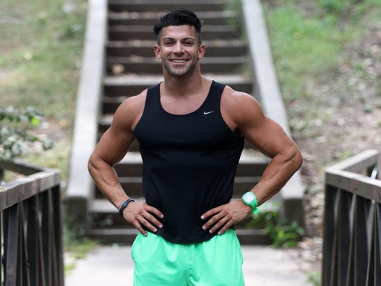 Rob Strauss of Iselin, Thursday, September 4, 2014, in Merrill Park in Woodbridge, NJ.  Strauss is on the upcoming season of The Amazing Race.   Photo by Jason Towlen
