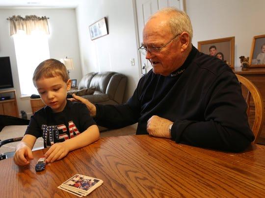 Werner Kleemann and his  grandson Cole Kleemann play