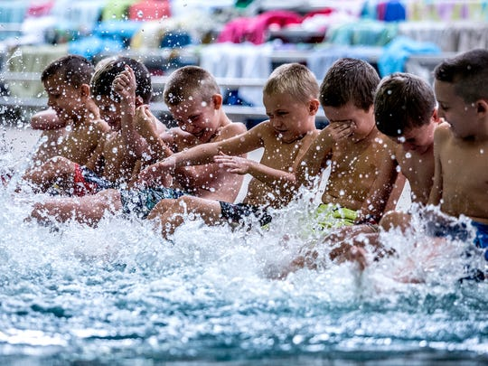 The Licking County YMCA received a grant to teach Newark students how to swim. The first students to benefit from this program are first graders at Ben Franklin Elementary.