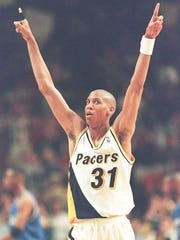 Indiana Pacers guard Reggie Miller scored 36 in Game