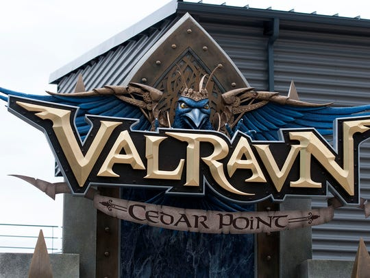 Cedar Point hosted a premiere event for media personnel and coaster clubs for its new Valravn dive-coaster in Sandusky on Wednesday May 4, 2016.