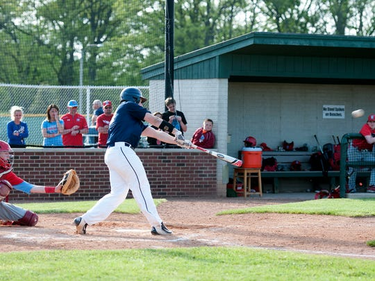 Woodmore's Dillon Williams hits while playing Eastwood at Carter Park in Bowling Green on Thursday.