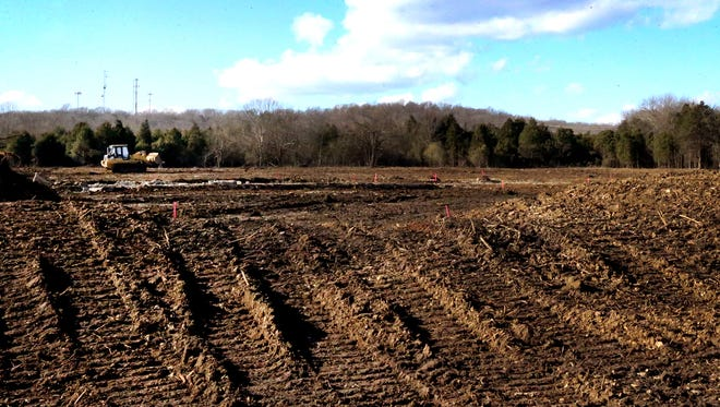 Work is proceeding on clearing land for two schools at the county's Rocky Fork Road property in Smyrna.